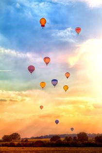 Viele bunte Heißluftballons by Gina Koch