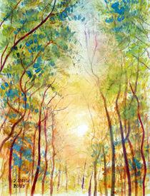 Landschaft mit Bäume von Irina Usova