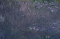 Seerosen: Reflexionen von Bäumen, Detail aus der linken Seite by Claude Monet
