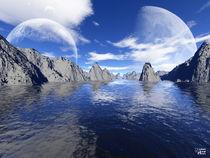 Blue sky - blue sea by Norbert Hergl