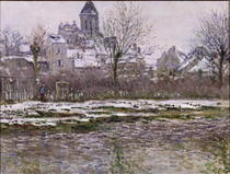Die Kirche bei Vetheuil unter dem Schnee von Claude Monet