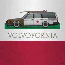 Volvofornia Slammed Volvo 245 240 Wagon California Style von monkeycrisisonmars