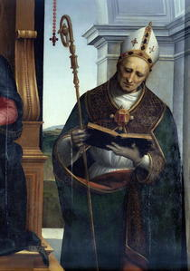 Die Madonna und Kind mit St. Johannes der Täufer und St. Nikolau von Raffaello Sanzio of Urbino