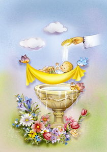 Cute baby for Baptism or Christening by arthousedesign