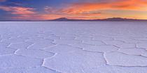 Salt flat Salar de Uyuni in Bolivia at sunrise von Sara Winter