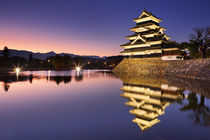 Matsumoto castle in Matsumoto, Japan at night by Sara Winter