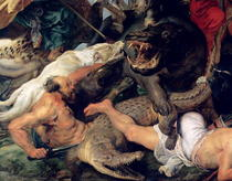 Nilpferd- und Krokodiljagd by Peter Paul Rubens