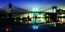 Kaiser Wilhelm Brücke bei Nacht von Rolf Müller