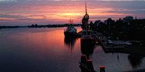 Sonnenuntergang am Feuerschiff by Rolf Müller