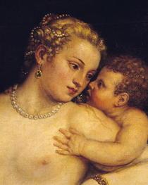 Venus ergötzt sich mit Liebe und Musik von Tiziano Vecellio