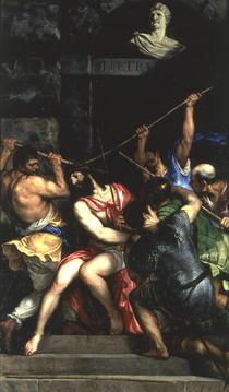 Die Dornenkrönung von Tiziano Vecellio