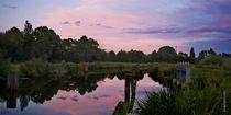 Sonnenuntergang am Kanal von Rolf Müller