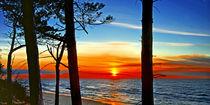 Sonnenuntergang an der Ostsee von Rolf Müller