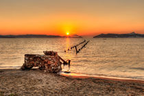 Sunset in Alikes of Milos, Greece by Constantinos Iliopoulos