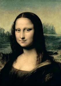 Detail der Mona Lisa von Leonardo Da Vinci