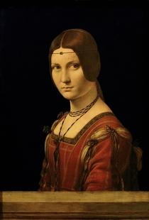 Portrait einer Dame vor dem Gericht von Mailand von Leonardo Da Vinci