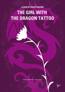 No528 My The Girl with the Dragon Tattoo minimal movie poster von chungkong