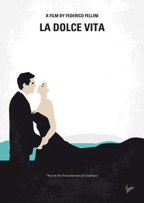 No529 My La dolce vita minimal movie poster by chungkong