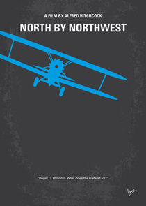 No535 My North by Northwest minimal movie poster by chungkong