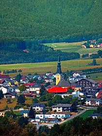 Das Dorf, der Wald und die Berge von Patrick Jobst