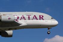 Qatar Airlines Airbus A380 von David Pyatt