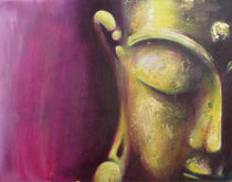 Buddha Magenta-Gold by Michael Ladenthin