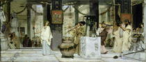 The Vintage Festival in Ancient Rome von Sir Lawrence Alma-Tadema