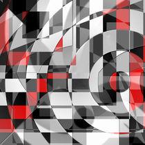 schwarz weiß trifft rot Version 1 by Christine Bässler