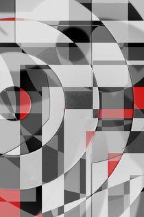 schwarz weiß trifft rot Version 2 von Christine Bässler