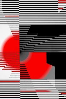 schwarz weiß trifft rot Version 4 von Christine Bässler