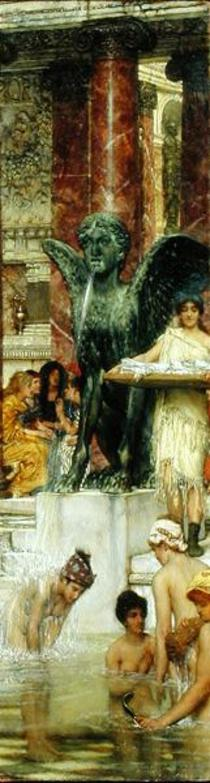 In the Roman Baths, or Roman Women In The Bath von Sir Lawrence Alma-Tadema