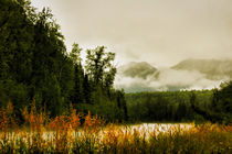 Clouds in the Mountains in Alaska by Amber D Hathaway Photography