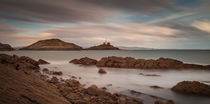 Bracelet Bay and Mumbles lighthouse von Leighton Collins
