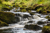 Peak District - Goyt valley river splashing over rocks von Chris Warham