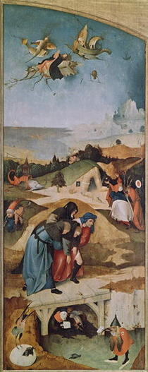 Left wing of the Triptych of the Temptation of St. Anthony  by Hieronymus Bosch