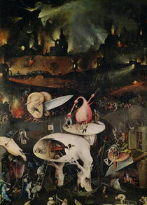 The Garden of Earthly Delights, Hell, right wing of triptych by Hieronymus Bosch