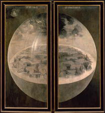 The Creation of the World, closed doors of the triptych `The Gar von Hieronymus Bosch