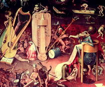 The Garden of Earthly Delights: Hell, detail from the right wing von Hieronymus Bosch