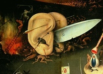 The Garden of Earthly Delights: Hell, right wing of triptych, de by Hieronymus Bosch