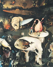 The Garden of Earthly Delights: Hell, right wing of triptych, c. by Hieronymus Bosch