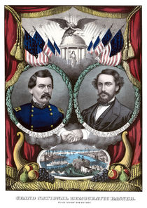 McClellan And Pendleton Campaign Poster von warishellstore