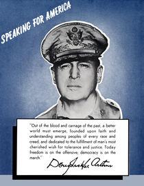 General MacArthur -- Speaking For America von warishellstore