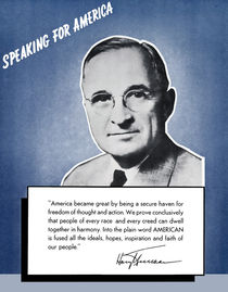 President Truman -- Speaking For America by warishellstore