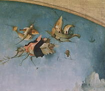 Detail of the left-hand panel von Hieronymus Bosch