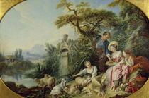 The Shepherd`s Gift or von Francois Boucher