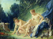 Diana getting out of her bath von Francois Boucher