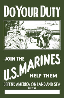 Do Your Duty - Join The US Marines von warishellstore
