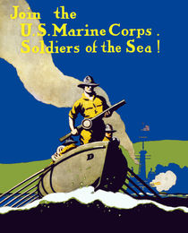 Join The US Marines Corps - Soldiers Of The Sea! by warishellstore