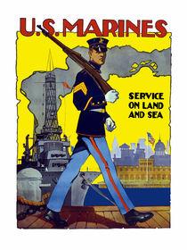 U.S. Marines -- Service On Land And Sea von warishellstore