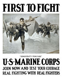 First To Fight -- US Marine Corps von warishellstore